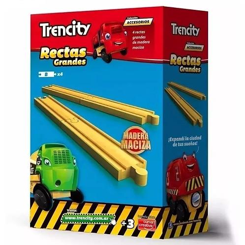 Trencity Kit De Vías Rectas Compatible Con Pistas De Tren
