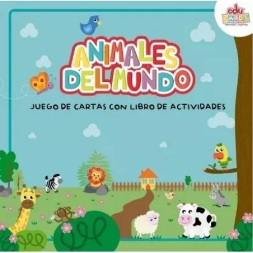 Animales Del Mundo Juego De Cartas Con Libro De Actividades