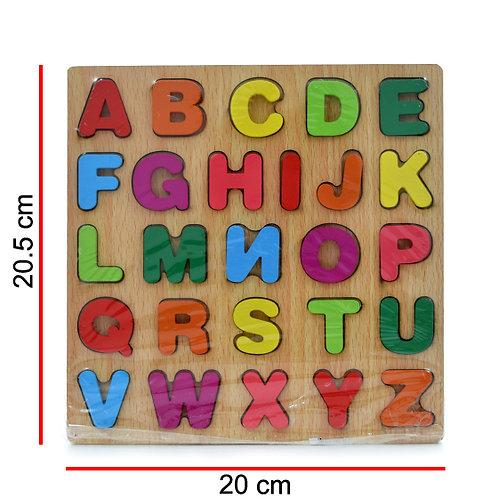 Encastre Madera Letras O Números
