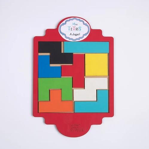 Mini Tetris Juego De Ingenio Rompecabezas De Formas Madera