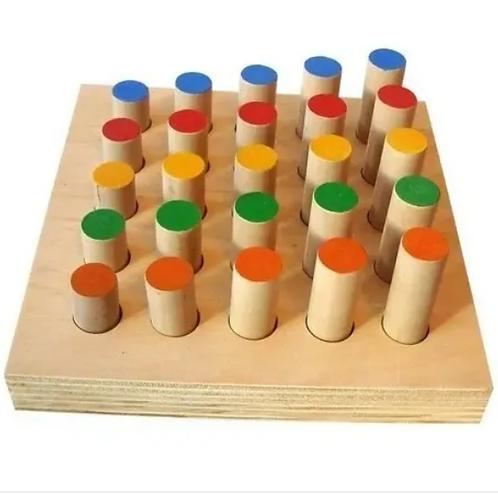 Plantado Bastones Madera Ordenar Por Color Y Altura Motricid