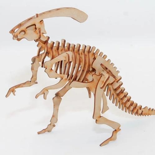 Maqueta Encastrable Parasaurolophus 25cm Madera