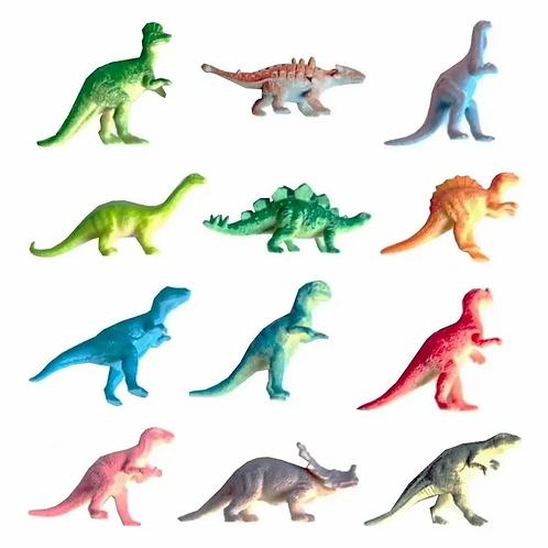 Dinosaurios De Goma X10 P/ Actividades Sensoriales Conteo