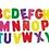 Thumbnail: 50 Letras + 20 Números Imantados Plásticos Didácticos