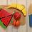 Thumbnail: Frutas O Verduras De Madera Con Abrojo Se Cortan Didáctico