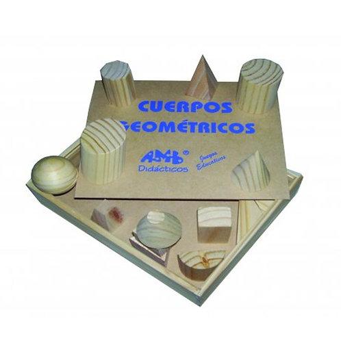 Cuerpos Geométricos Madera Didáctico Matemáticas X15