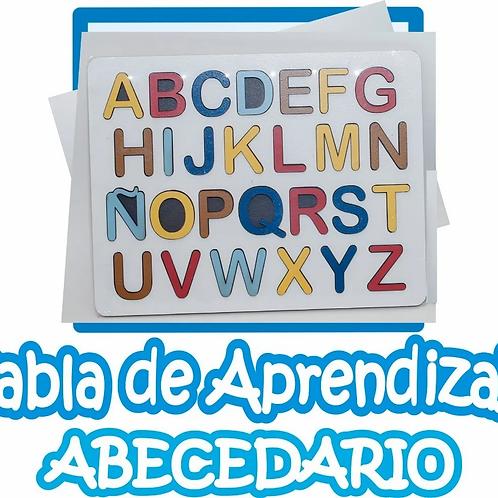 Encastre Madera Didáctico Alfabeto Abecedario Letras de 8cm