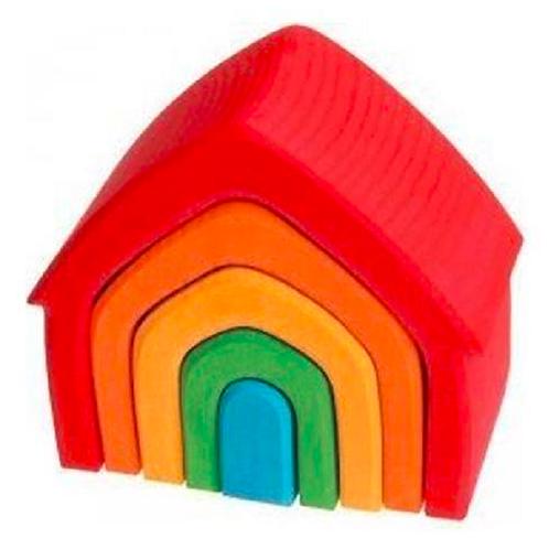 Casitas Anidables Madera Bloques Montessori Motricidad