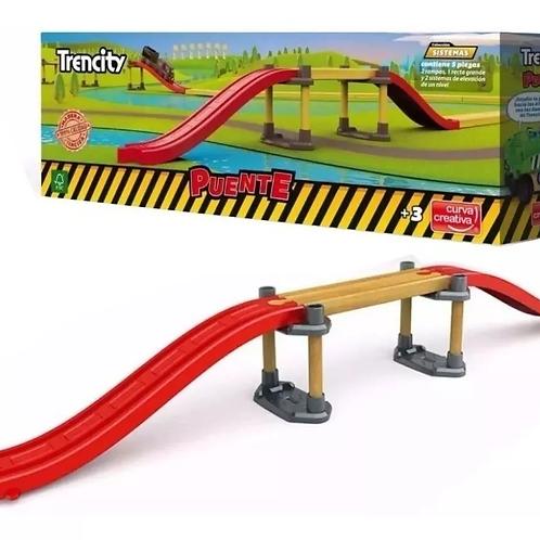 Puente Para Pista Trencity 55 Cm Tren Vias De Madera