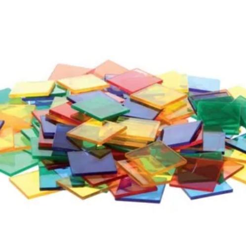 40 Azulejos Cuadrados Translucidos Mesa Lumínica Sensorial