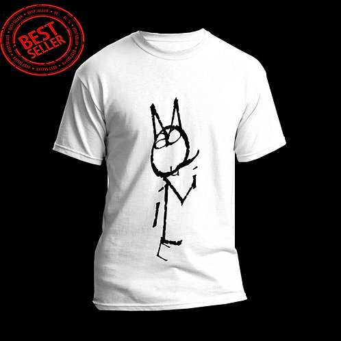 MacQuillie Fly Cat Logo (White/BlackInk)
