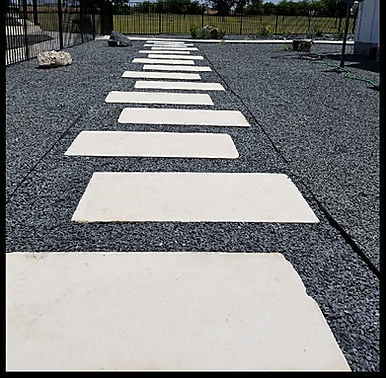 Modern Paver Walkway