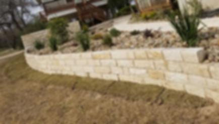 Limestone w/ Nicotine Retaining Wall