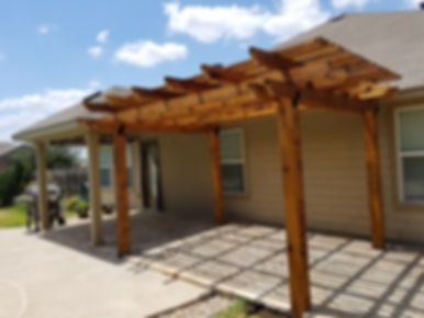 Fossil Creek Patio w/ Cedar Pergola