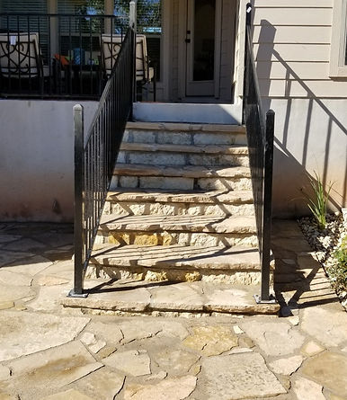Fossil Creek Steps w/ Wrought Iron Raili
