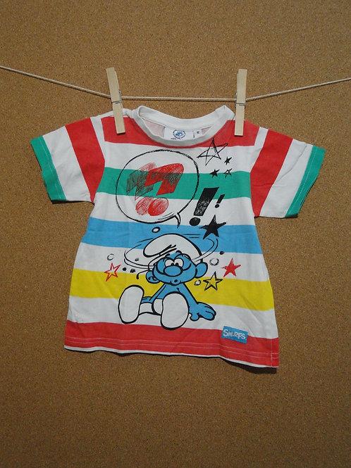 T-Shirt Schtroumpf : Taille 92cm