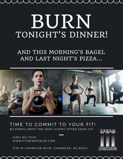 fitness forum burn tonight's dinner ad