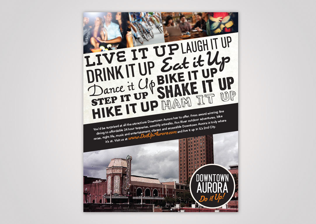Downtown Aurora - Live-It-Up ad