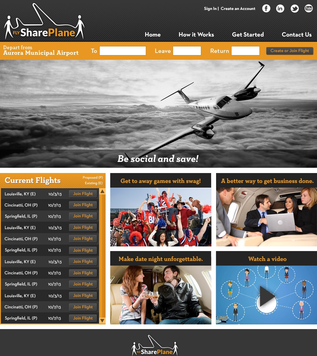 Fly Share Plane Website