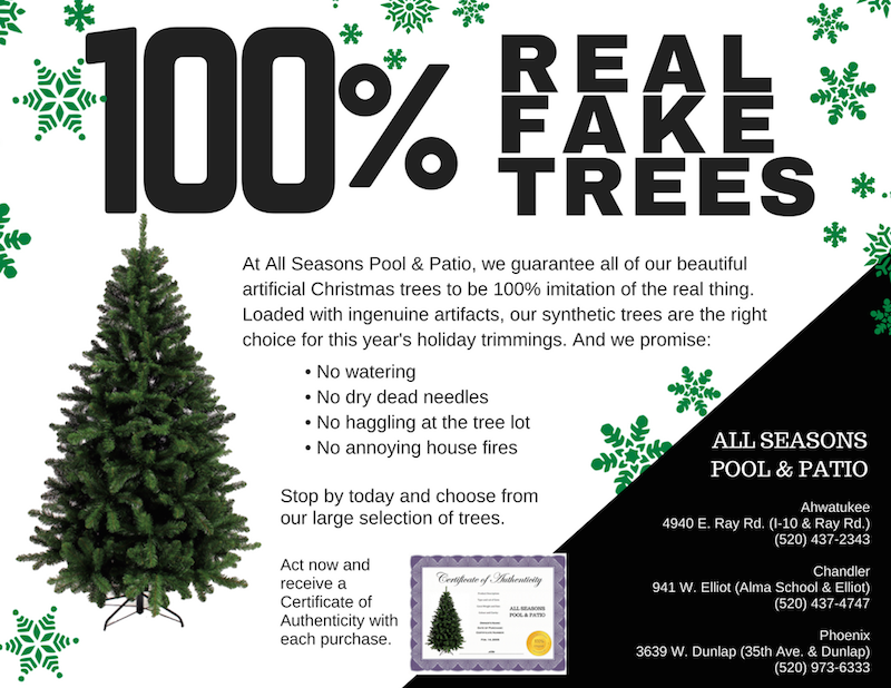 REAL FAKE TREES FB ad