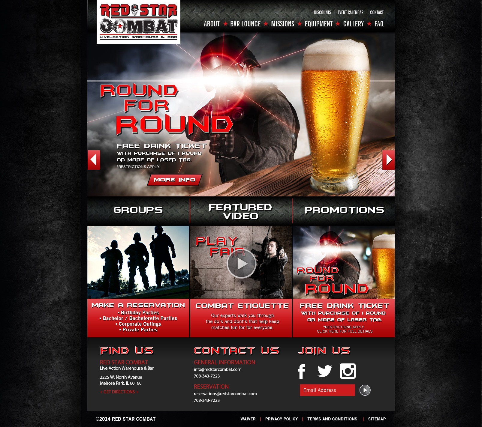 Red Star Combat Website
