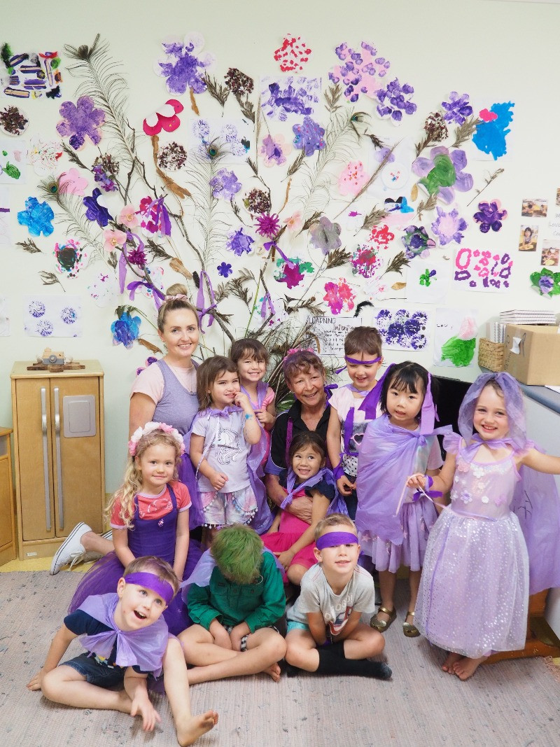 The children of TG's Hastings Street featured in Brilliant Online with a beautiful Lasiandra Tree of their own