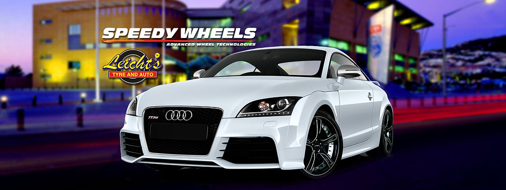 Brilliant Online features Leicht's Tyre and Auto Speedy Wheels Technology with a white Audi Car