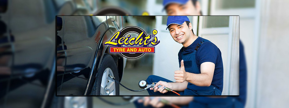 Brilliant Online features A Leicht's Tyre and Auto employee gives a thumbs up while working on a vehicle