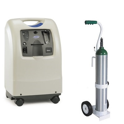 Concentrador de Oxígeno y Tanque de Oxígeno