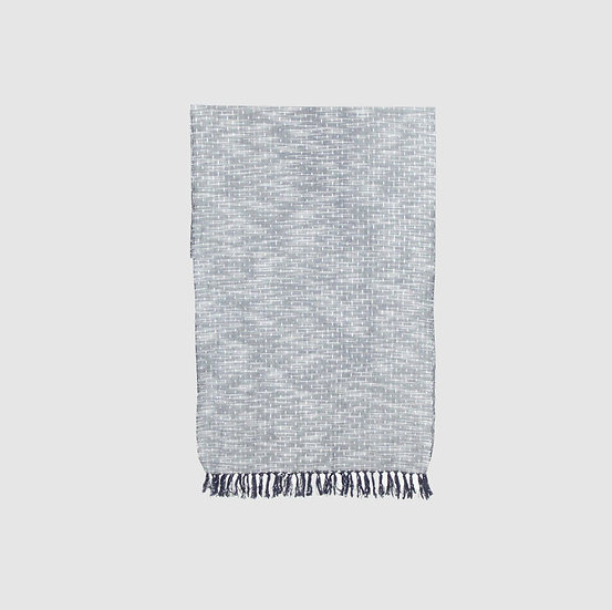 Kasuri scarf (Grey)