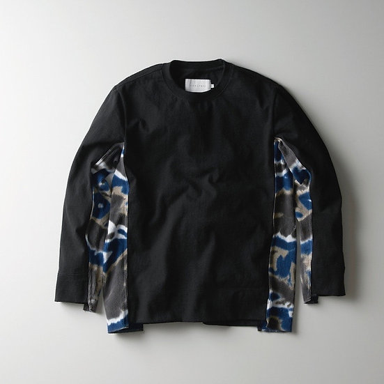 "CURLY&Co SWITCHING L/S TEE with ""CHU-SEN""(Black)"
