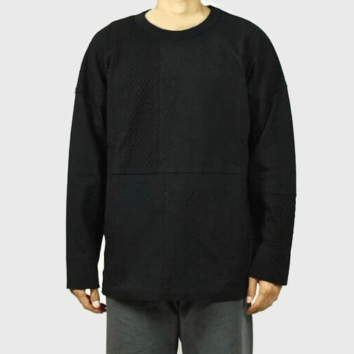 CURLY&Co SWITCHING JACQUARD TEE(Black)