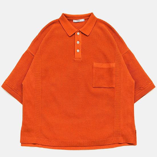 YASHIKI Satsuki Knit Polo (Orange)