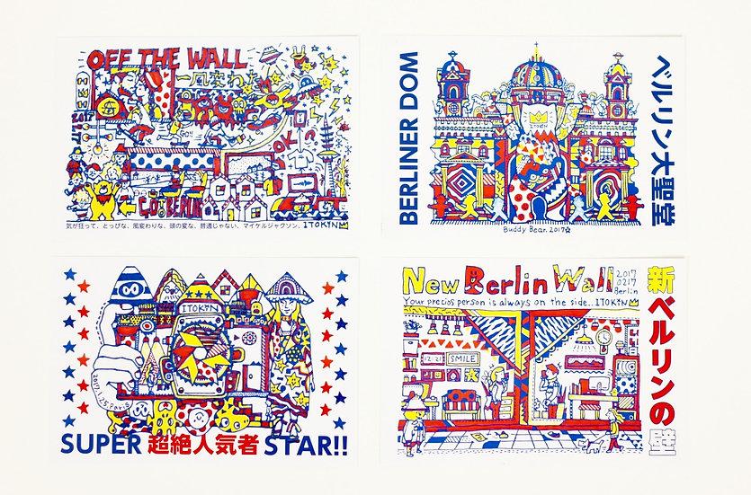 ITOKiN Post card 4 pieces set