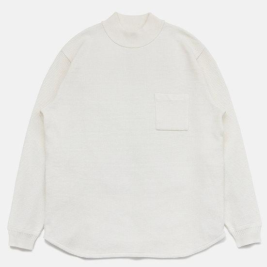YASHIKI Waffle Mock neck Knit(White)