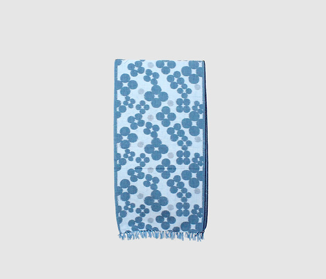 Kasuri scarf (Blue)
