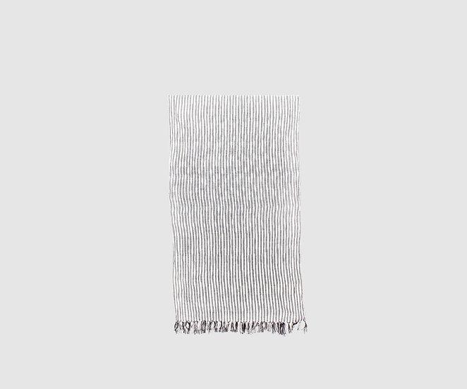 Kasuri scarf (stripe/Black)