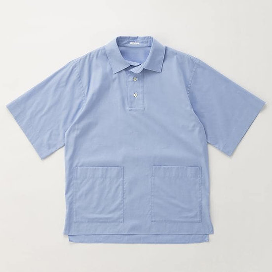 IKIJI Patch Pocket Pullover Shirts (Light Blue)
