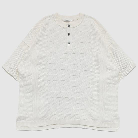 YASHIKI Seiryu Henley Knit(White)