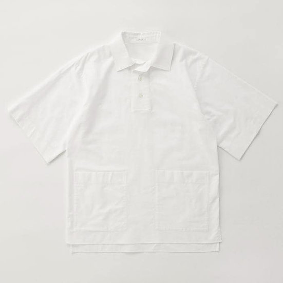 IKIJI Patch Pocket Pullover Shirts (White)