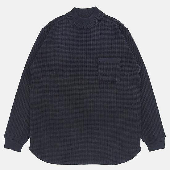 YASHIKI Waffle Mock neck Knit(Black)