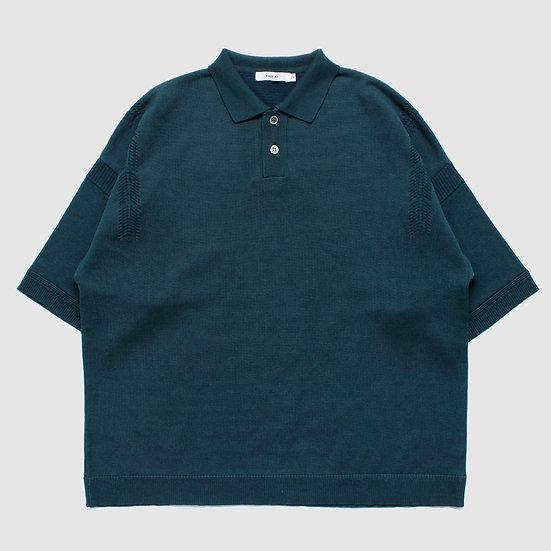 YASHIKI Mikage Knit Polo (Green)