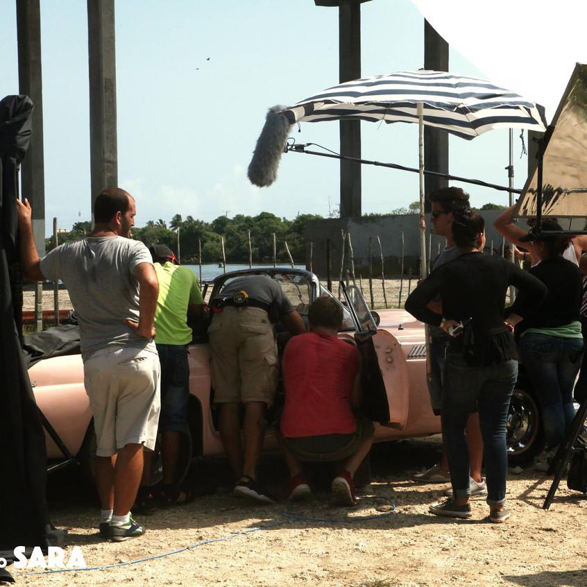 Lucas como Sara movie shooting