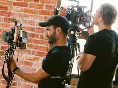 studio music video shoot in Palma Mallorca