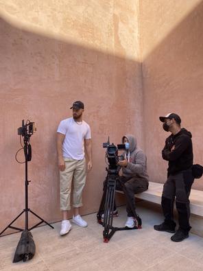 NA-KD fashion shoot behind the scenes
