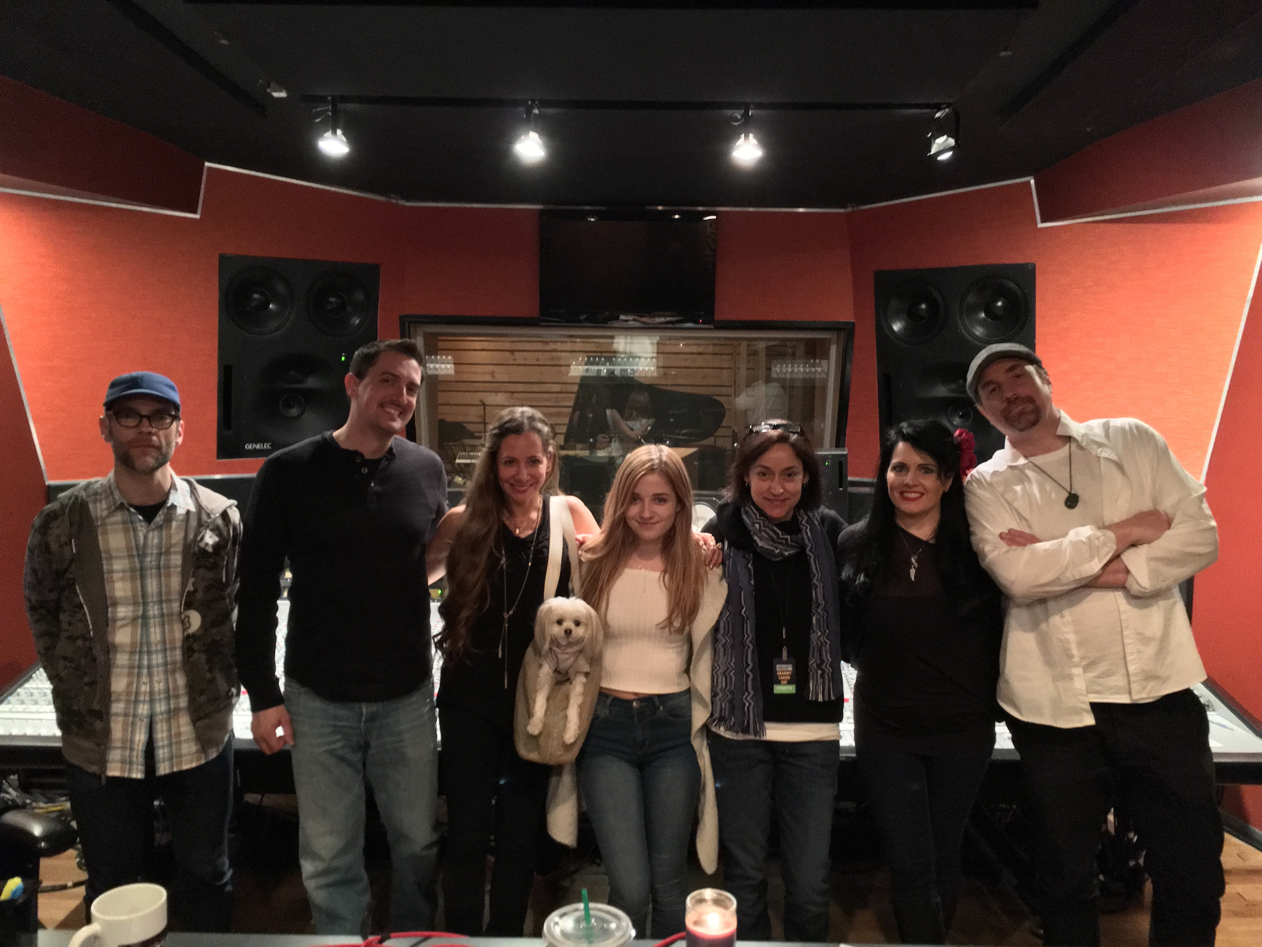 Jackie Evancho crew at Spin Studios