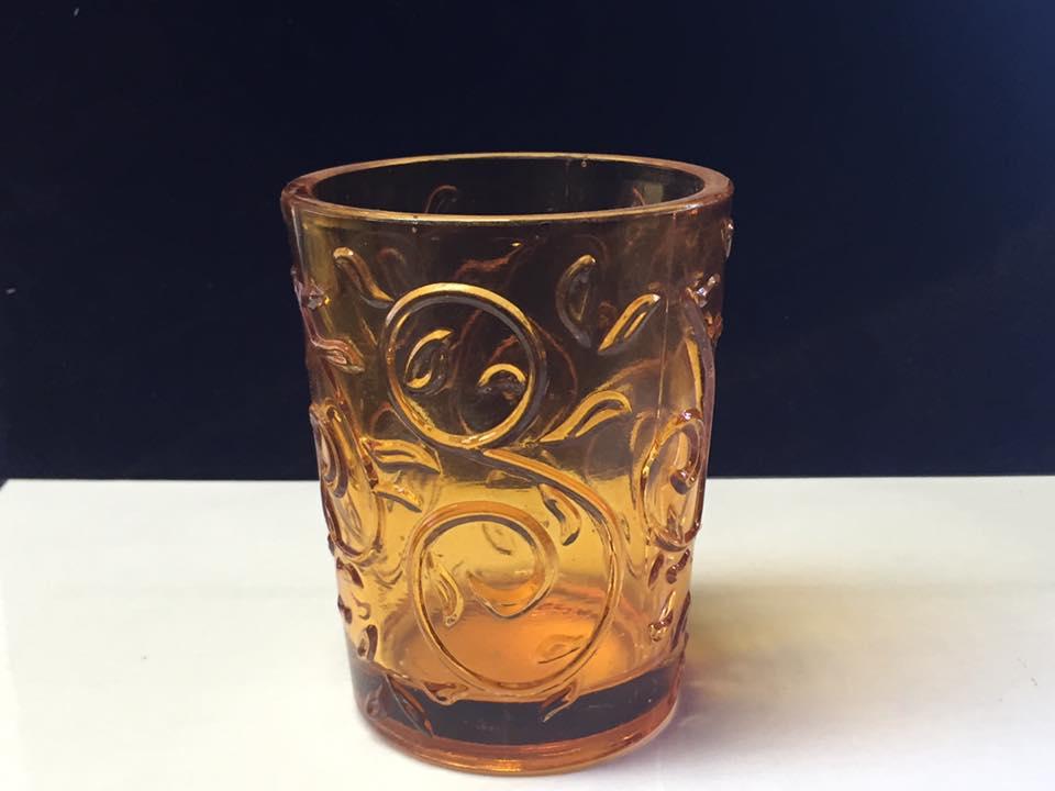 כוס כתומה לנר/פרחים