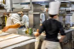 The Kitchen During Lunch Service