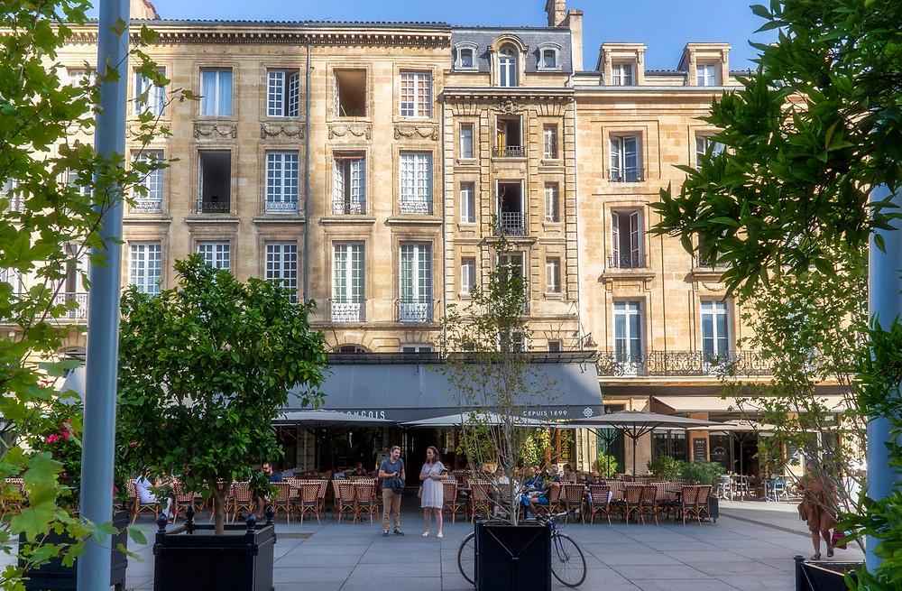 Place Pey Berland and Le Café Francais