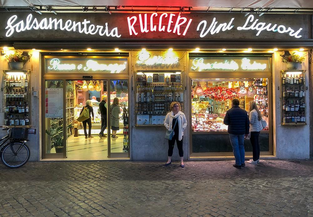At Ruggeri food market, on Campo de' Fiori, Rome